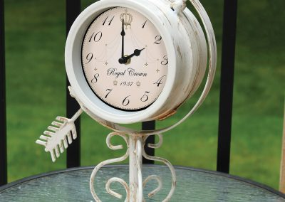 10519 Pinebush Royal Sundial Tabletop Garden Clock Thermometer