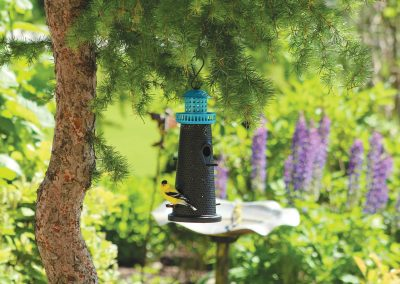 10754 Pinebush Mixed Seed Lighthouse Feeder Blue Goldfinch
