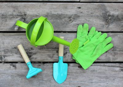 24273 Pinebush Junior Watering Can with Rake Spade and Gloves