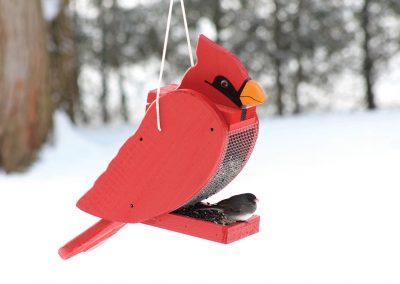 78001 Pinebush Cardinal Shape Wood Feeder Junco