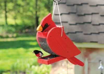 78001 Pinebush Cardinal Shape Wood Feeder Rosebreasted Grosbeak