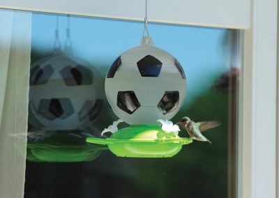 88071 Pinebush Sports Soccer Ball Glass Hummingbird Feeder